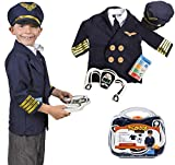 Tigerdoe Pilot Costume for Kids - Pilot Costumes - Kids Dress up, W/Storage Case - Pretend Play - Role Play by