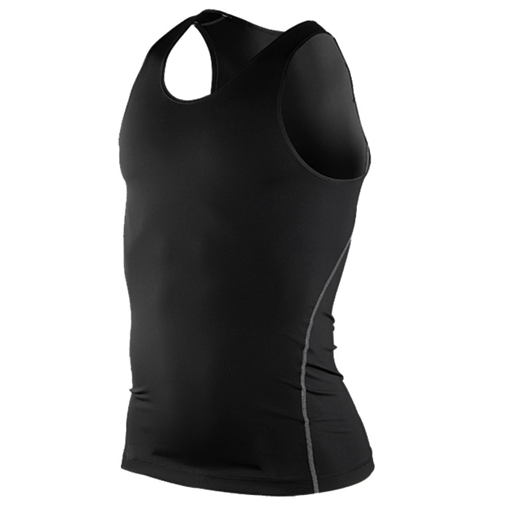 jntworld Men Pro Training Tight Vest Perspiration Wicking Sports Fitness Clothes