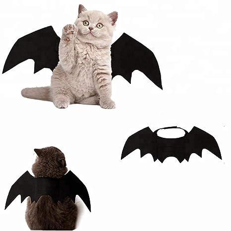 DryMartine - Alas de Bate para Mascotas de Halloween, Disfraz para Perros, Gatos,