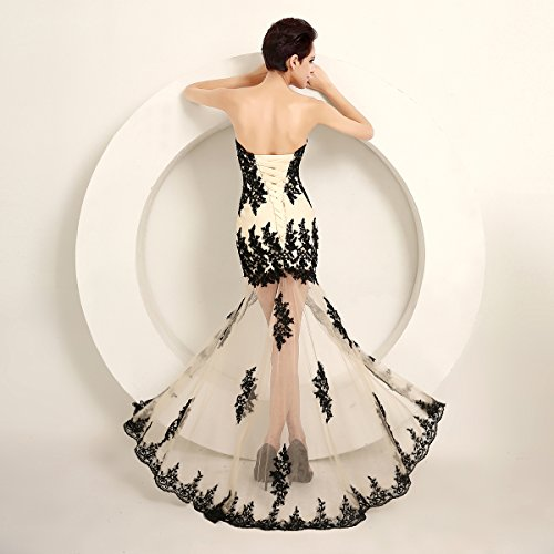 Butterfly Ball Color Bridesmaid Chiffon Gown Evening Dress Prom Beaded Ivory Gradient Paradise fqTgrf