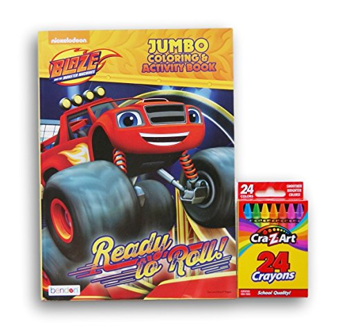 Blaze and the Monster Machines ''Ready to Roll'' Jumbo Coloring and Activity Book with a Box of Crayons