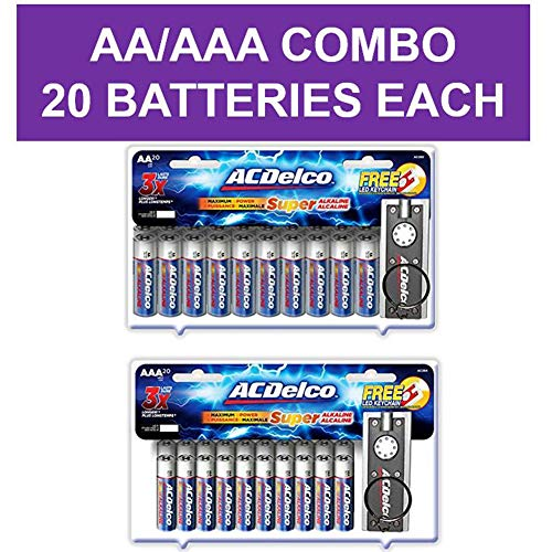 Basic Assortment - ACDelco AA and AAA Batteries, Alkaline Battery, 20 Count Each Pack