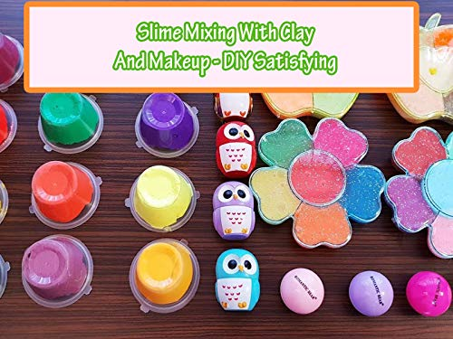 Creative Mix - Clip: Slime Mixing With Clay And Makeup - DIY Satisfying slime video