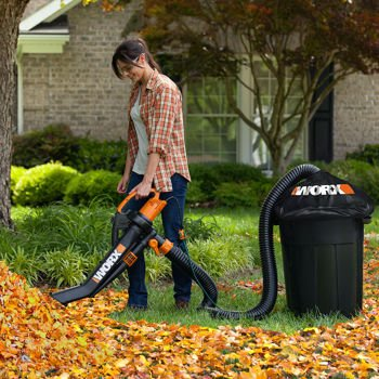 Worx Trivac Blower & Mulcher with Leaf Pro - Lightweight and Easy to Use