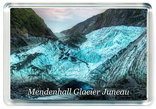 - K166 Mendenhall Glacier Juneau Jumbo Refrigerator Magnet USA - United States of America Travel Fridge Magnet