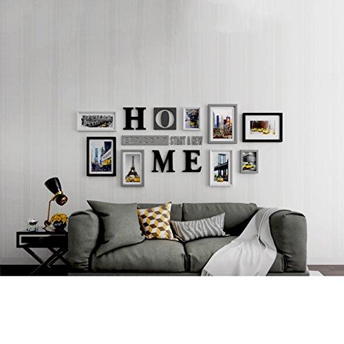 Photo frame wall Photo wall large-size decorative living room minimalist modern creative combination of hanging frame wall Photo Wall by Photo Frame Set