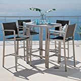 Crested Bay Patio Furniture 5 Piece Outdoor Wicker and Aluminum