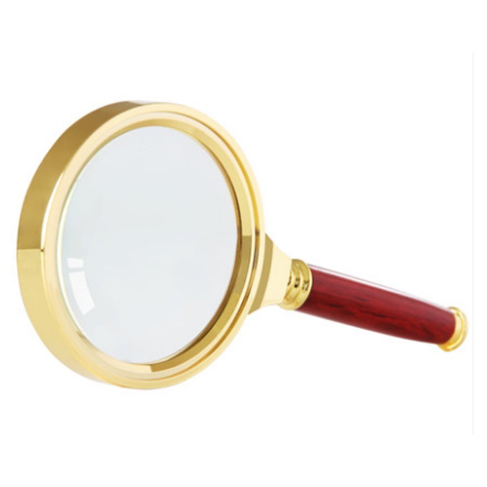 Home Mart Antique Mahogany Handle Magnifier Metal Reading Magnifying Glass 60mm Lens Jewelry Loupe by Home Mart (Image #2)