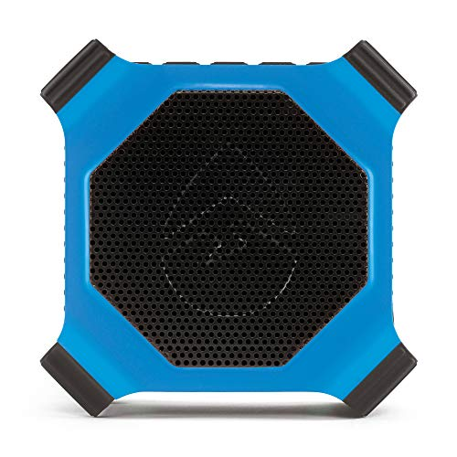 ECOXGEAR EcoEdge GDI-EXEDGE302 Rugged Waterproof Floating Portable Bluetooth Wireless 20 Watt Smart Speaker with Built-in Bottle Opener (Electric Blue)