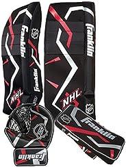 FRANKLIN PRE-FRK-12095F4E2 NHL Street Hockey Goalie Set, Black/Red, Junior Large/X-Large