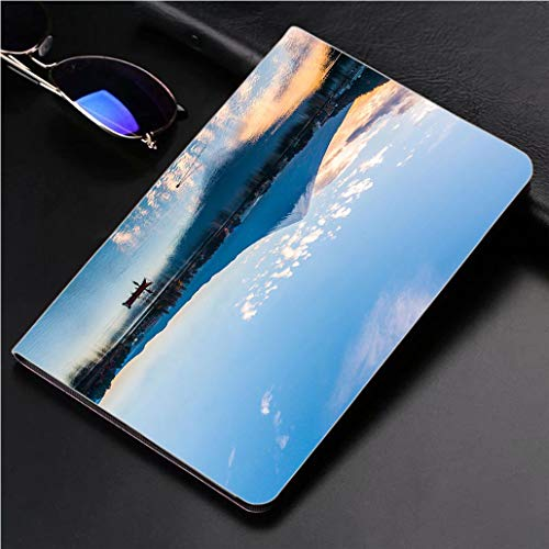 Compatible with 3D Printed iPad Pro 10.5 Case Mt Fuji at Lake Kawaguchi Japan 360 Degree Swivel Mount Cover for Automatic Sleep Wake up ipad case