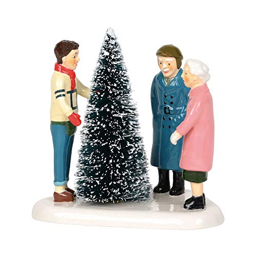 Department 56 Original Snow Village Choosing The Perfect Tree Figurine