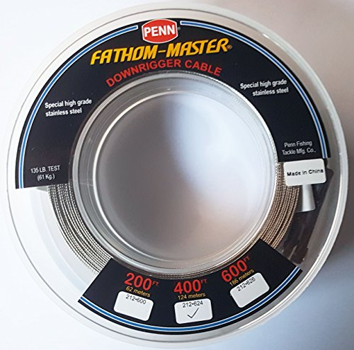 Seahorse Penn Fathom-Master Downrigger Cable 400 ft