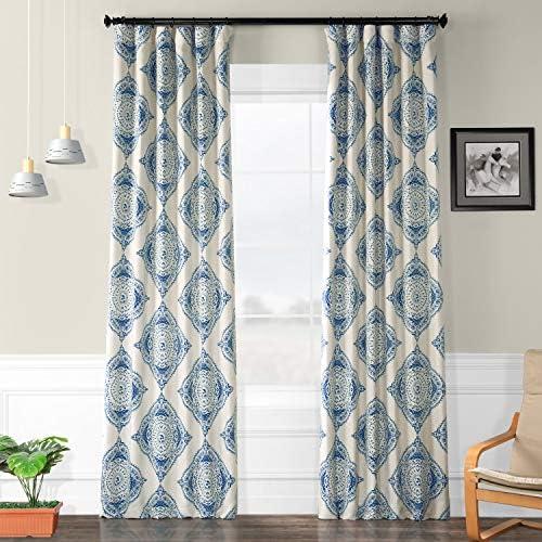 HPD Half Price Drapes BOCH-KC27C-120 Blackout Room Darkening Curtain 1 Panel , 50 X 120, Henna Blue