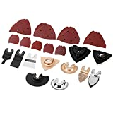 VonHaus 38 Piece Oscillating Multi-tool Accessories Kit Set for Sanding, Grinding and Cutting - Compatible with Quick-Lock and Tool-Free Multi Oscillating Tools
