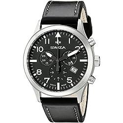 Swiza Men's WAT.0353.1001 Siriuz Analog Display Swiss Quartz Black Watch