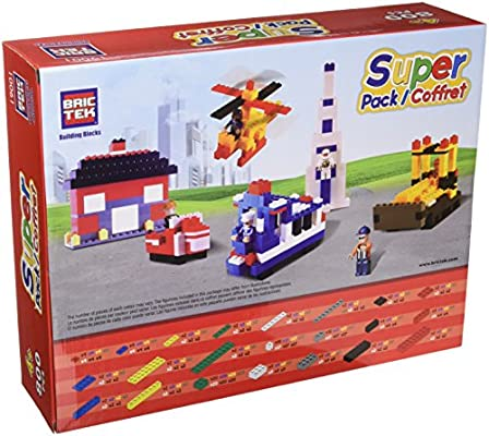 Super Pack BricTek Building Construction Toy 800 Pieces Block Brick 19001