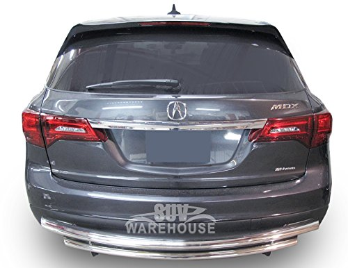 Wynntech Rear Bumper Guard for 2014-2017 Acura MDX – Double Layer Stainless Steel