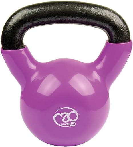 Fitness Mad Kettlebell - Pesa rusa de ejercicio y fitness, color púrpura, peso 8 kg: Amazon.es: Deportes y aire libre