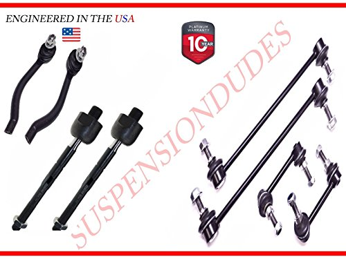 - 8pc 2007-2012 for Nissan Altima Inner Outer Tie Rod Set +FRONT & REAR LINKS