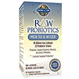 Garden of Life – RAW Probiotics Men 50 & Wiser – Acidophilus and Bifidobacteria Probiotic-Created Vitamins, Minerals, Enzymes, and Prebiotics – Gluten Free – 90 Vegetarian Capsules Review