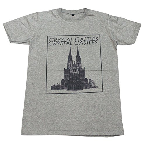 [Crystal Castles music rave punk dance T-Shirt Gray / GV101.3 size M] (Mens Disco Jumpsuit)