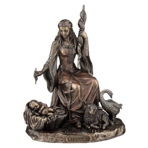 "8"" Frigga Norse Goddess Figurine Figure Statue Sculptue Love & Marriage Decor"