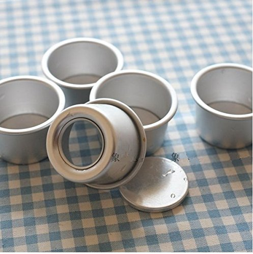 Astra shop Perfect Performance Aluminium Mini Round Chiffon Cake Pan, Set of 5
