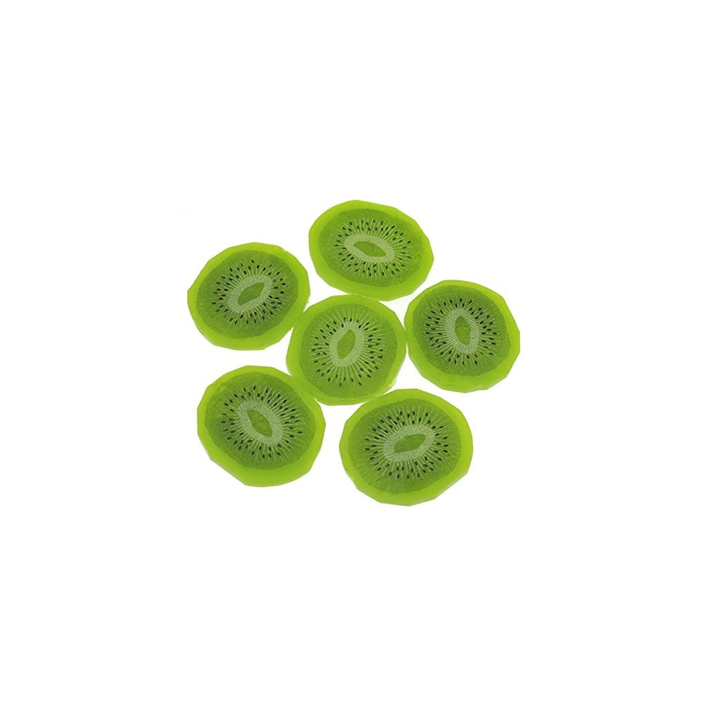 Gresorth-6pcs-Premium-Simulation-Fruit-Artificial-Kiwi-Slice-Fake-Green-Fruits-Home-Party-Decoration