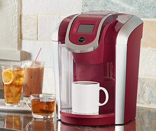 Keurig K475 Single Serve Programmable K- Cup Pod Coffee Maker with 12 oz brew size and temperature control, Vintage Red by Keurig (Image #3)