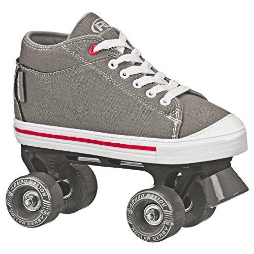 Patins Quad Roller Derby Zinger Boy Infantil, Cinza, 30