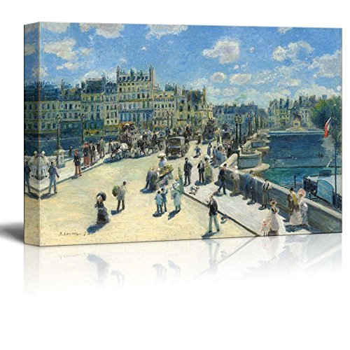 wall26 - Pont Neuf, Paris by Pierre-Auguste Renoir - Canvas Print Wall Art Famous Painting Reproduction - 24
