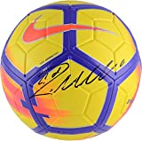 #10: Cristiano Ronaldo Juventus C.F. Autographed Yellow and Purple Nike Strike Soccer Ball - Fanatics Authentic Certified