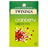 Twinings Green Tea Cranberry Flavour Tea Bags (20) For Sale