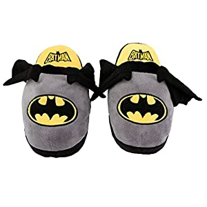 Animated Batman Plush Slippers - Ultra Soft and Fuzzy - Wings Flap as You Walk - by Stompeez