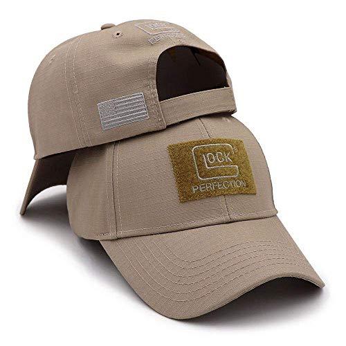 Hepre Doo 2019 Tactical Glock Shooting Sports Baseball Cap Fishing Caps Men Outdoor Hunting Jungle Hat Khaki One Size Fits Most