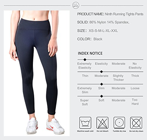 9cd8d170f0 Queenie Ke Women Yoga Leggings Nine Pants Power Flex High Waist Gym Running  Tights Size M