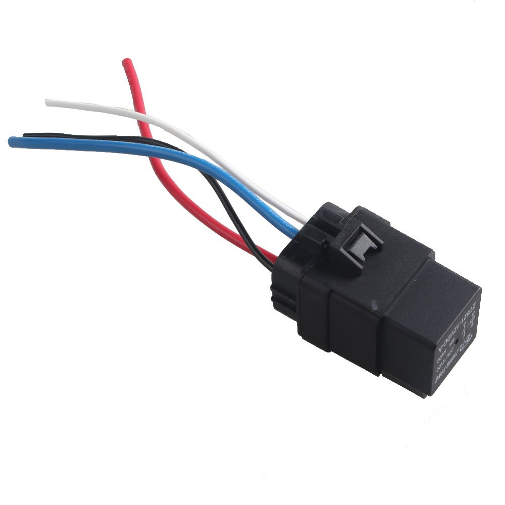 E Support Car Truck Motor Heavy Duty 12v 40a Spst Relay Socket Plug 4 Pin And 4pin Wire Waterproof Seal Cxr40f04a Accessory Power Automotive Tibs