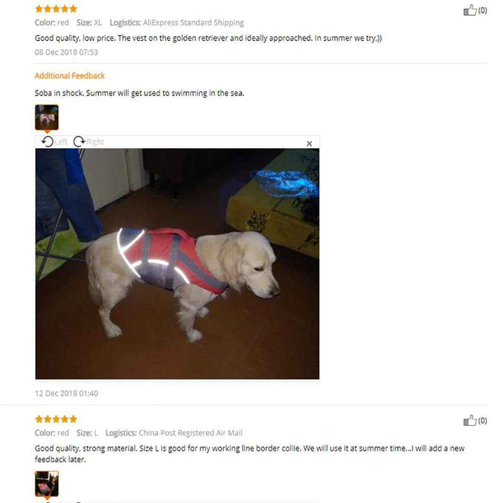 LIULINCUN Mascota Perro Grande Chaleco Salvavidas Ropa Labrador ...