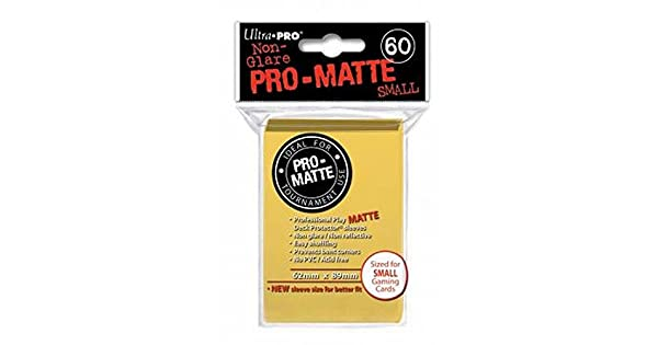 Ultra-Pro Pro-Matte Sleeves for Yu-Gi-Oh Small Ultra Pro 330630 60 Deck Protectors Cardfight//CFVG Yellow