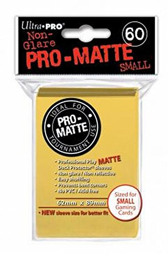 Ultra Pro Pro Matte Sleeves   Yellow, Small   For Yu Gi Oh, Cardfight/Cfvg (60 Deck Protectors) by Ultra Pro