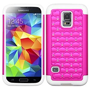 ASMYNA Hot Pink/Solid White FullStar Protector Cover for SAMSUNG S5 mini