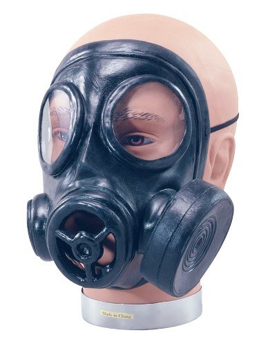 [1940s World War Rubber Gas Mask Fancy Dress Costume Accessory] (Gas Mask Costume Accessory)