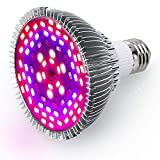 MLX 50W LED Grow Light Bulb Full Spectrum, E27 78Pcs 5730 SMD Chips Grow lamp for Indoor Plants Greenhouse Hydroponic Veg and Flower