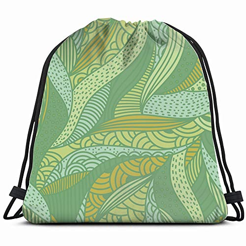 Banana Fish Jungle Gym - Abstract Organic Shapes Drawstring Backpack Sports Gym Bag For Women Men Children Large Size With Zipper And Water Bottle Mesh Pockets