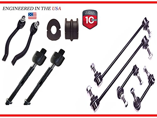 - 10PC R/L Sway Bar Links + Front Bushings+TIE ROD FOR Nissan Altima 23.2MM Bar