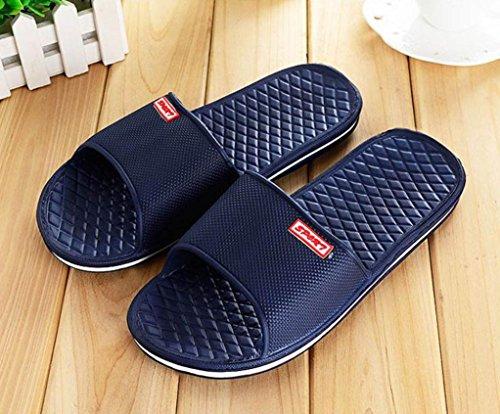 Uomogo® Pantofola Interni Pantofola Scarpe Doccia Slipper Unisex Estive Antiscivolo All'aperto Blu Coppie w6aqw5r