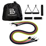 Bodyguard 11Pcs Resistance Band Set, with Door Anchor, Handles, Ankle Straps and Carrying Bag,Elastic Pull Rope Perfect for Resistance Training, Physical Therapy, Home Gyms Workouts Yoga Pilates