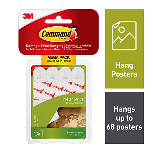 Command Poster Strips (17024-136ES) (Best Way To Strip Wallpaper Off Walls)