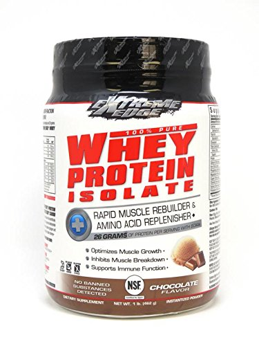 Bluebonnet Nutrition Extreme Edge Whey Protein Isolate Powder Chocolate Flavor, 1 Pound